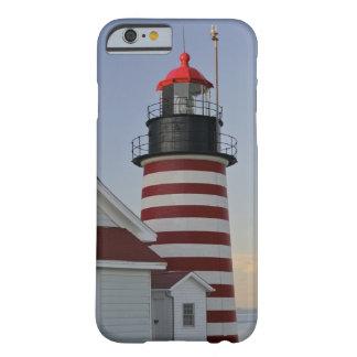 Los E.E.U.U., Maine, Lubec. Faro principal del Funda Para iPhone 6 Barely There