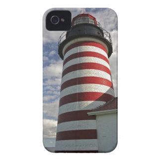 Los E.E.U.U., Maine, Lubec. Faro principal del iPhone 4 Case-Mate Coberturas