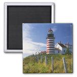 Los E.E.U.U., Maine, Lubec. Faro principal del oes Iman