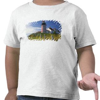 Los E.E.U.U., Maine, Lubec. Faro principal del oes Camisetas