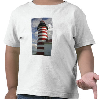 Los E.E.U.U., Maine, Lubec. Faro principal del oes Camiseta