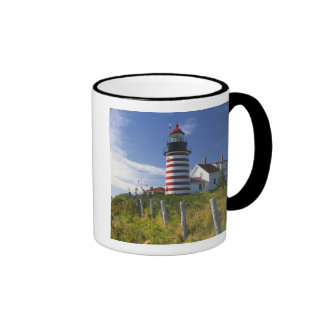 Los E.E.U.U., Maine, Lubec. Faro principal del oes Taza De Café
