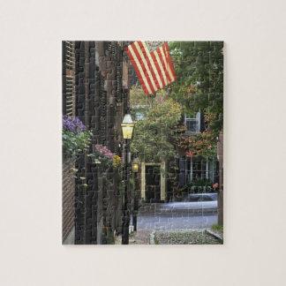 Los E.E.U.U., Massachusetts, Boston, colina de far Puzzle Con Fotos