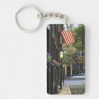Los E.E.U.U., Massachusetts, Boston, colina de Llavero Rectangular Acrílico A Doble Cara