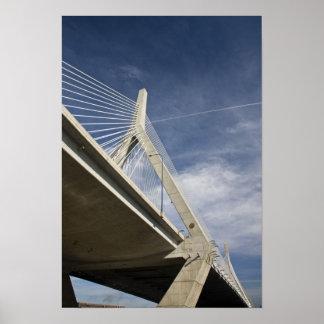 Los E.E.U.U., Massachusetts, Boston. El puente de  Póster