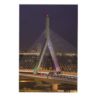 Los E.E.U.U., Massachusetts, Boston. Leonard Zakim Impresión En Madera