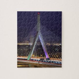Los E.E.U.U., Massachusetts, Boston. Leonard Zakim Rompecabezas Con Fotos