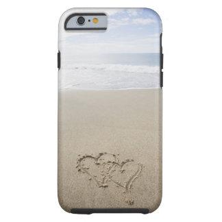 Los E.E.U.U., Massachusetts, corazones dibujados Funda Resistente iPhone 6