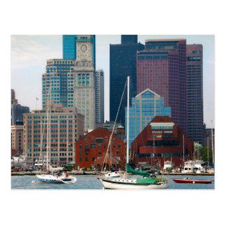 Los E.E.U.U., Massachusetts. Horizonte de la costa Tarjetas Postales