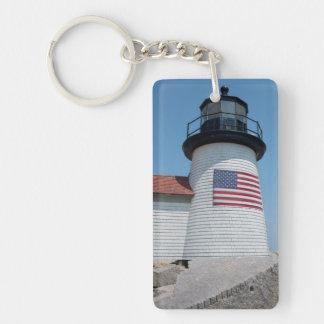 Los E.E.U.U., Massachusetts, Nantucket. Punto de Llavero Rectangular Acrílico A Doble Cara