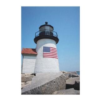 Los E.E.U.U., Massachusetts, Nantucket. Punto de Lona Envuelta Para Galerias