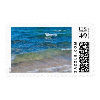 Los E.E.U.U., Michigan. Aguas claras del lago Sellos