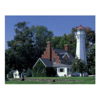 Los E.E.U.U., Michigan, el lago Hurón. Puerto Postal