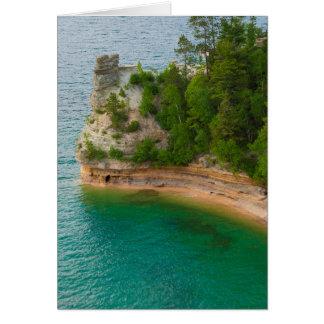 Los E.E.U.U., Michigan. Formación de Castle Rock Tarjeta De Felicitación