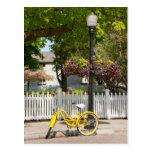Los E.E.U.U., Michigan, isla de Mackinac. Bici Tarjetas Postales