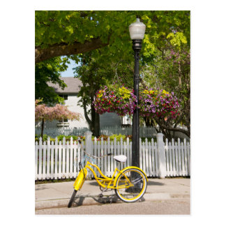 Los E.E.U.U., Michigan, isla de Mackinac. Bici Postal