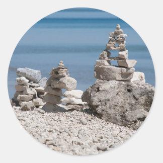 Los E.E.U.U., Michigan. Torres de piedra en la Pegatina Redonda