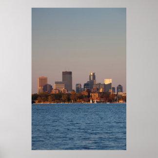 Los E.E.U.U., Minnesota, Minneapolis, horizonte de Póster