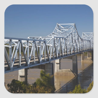 Los E.E.U.U., Mississippi, Vicksburg. Carretera I- Calcomanía Cuadradase