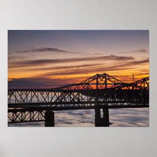 Los E.E.U.U., Mississippi, Vicksburg. Carretera I- Póster