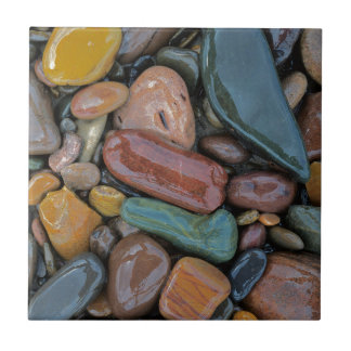 Los E.E.U.U., Montana, el río Clark Fork, piedras Azulejo Cuadrado Pequeño