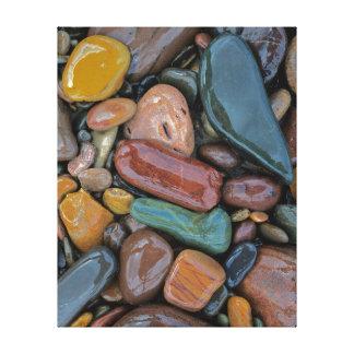 Los E.E.U.U., Montana, el río Clark Fork, piedras Impresión En Lienzo