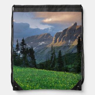 Los E.E.U.U., Montana, Parque Nacional Glacier, Mochilas