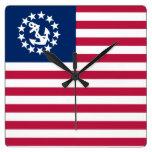 Los E.E.U.U. náuticos que navegan la bandera Relojes De Pared
