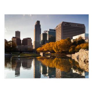 Los E.E.U.U., Nebraska, Omaha, alameda de Leahy Tarjetas Postales