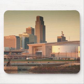 Los E.E.U.U., Nebraska, Omaha, horizonte Tapetes De Ratón
