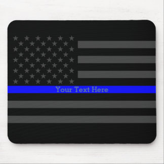 Los E.E.U.U. negros personalizados Blue Line finos Tapetes De Raton