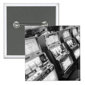 Los E.E.U.U., Nevada, Las Vegas: Del casino máquin Pin Cuadrada 5 Cm
