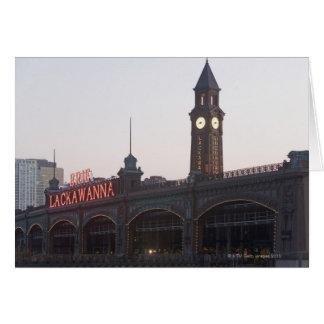 Los E.E.U.U., New Jersey, Hoboken, vieja estación  Felicitaciones