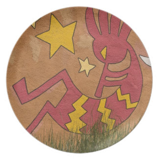 Los E.E.U.U., New México, Santa Fe. Mural de la pa Platos De Comidas