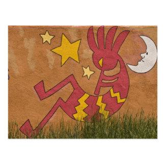 Los E.E.U.U., New México, Santa Fe. Mural de la Tarjetas Postales
