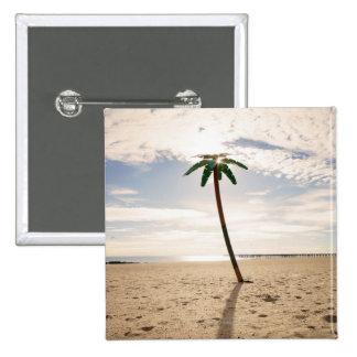 Los E.E.U.U., New York City, Coney Island, palmera Pin Cuadrada 5 Cm