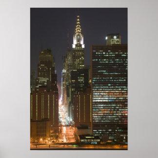 Los E.E.U.U., New York City, vista del Midtown con Póster