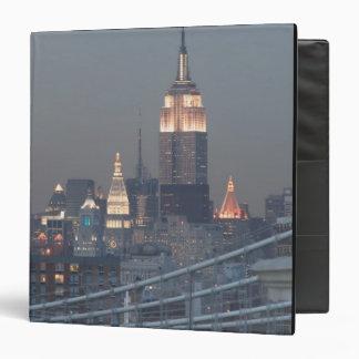 Los E.E.U.U., New York City, vista del puente de M
