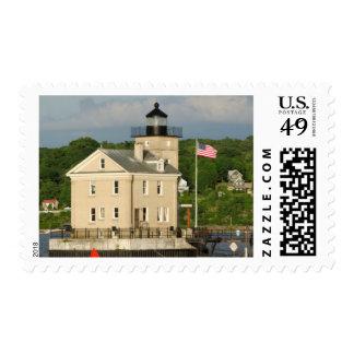 Los E.E.U.U., Nueva York, Kingston, el río Hudson. Sello Postal