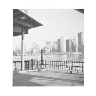 LOS E.E.U.U., NUEVA YORK: Lower Manhattan de New Y Bloc De Papel