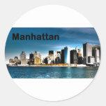 Los E.E.U.U. Nueva York Manhattan (St.K) Pegatina Redonda