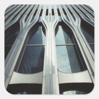 Los E.E.U.U., Nueva York, Manhattan, World Trade Pegatina Cuadrada