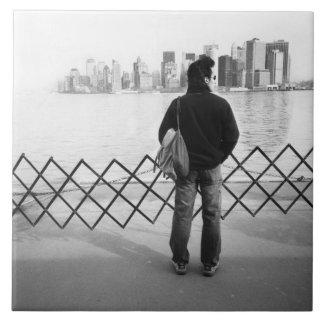 LOS E.E.U.U., NUEVA YORK: New York City a bordo de Azulejo Cuadrado Grande