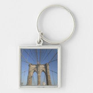 Los E.E.U.U., Nueva York, New York City, Brooklyn: Llavero Cuadrado Plateado