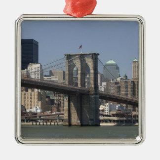 Los E.E.U.U., Nueva York, New York City, Adorno Cuadrado Plateado