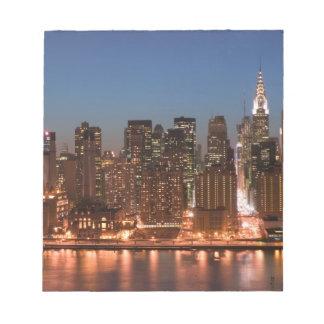 Los E.E.U.U., Nueva York, New York City, Manhattan Bloc De Notas