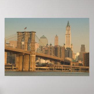 Los E.E.U.U., Nueva York, New York City, Manhattan Póster