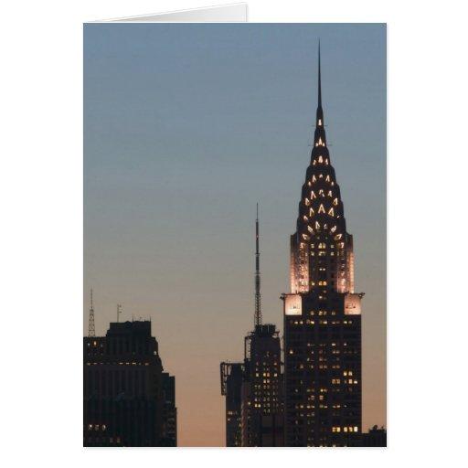 Los E.E.U.U., Nueva York, New York City, Manhattan Tarjeta