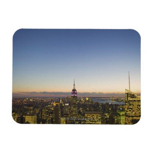 Los E.E.U.U., Nueva York, New York City, paisaje u Imanes Flexibles