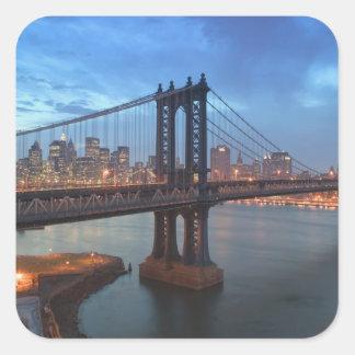 Los E.E.U.U., Nueva York, New York City, Calcomanías Cuadradass